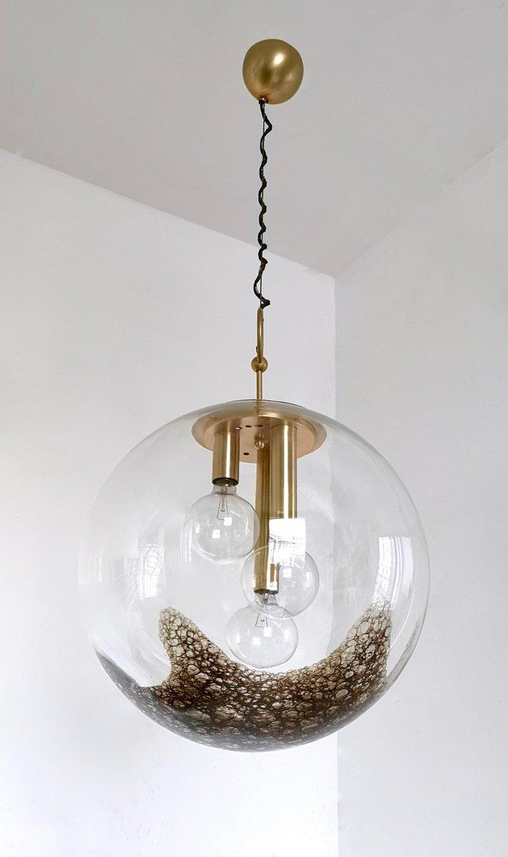 Lampada grande in vetro soffiato di La Murrina, Italia, anni \'70 in ...