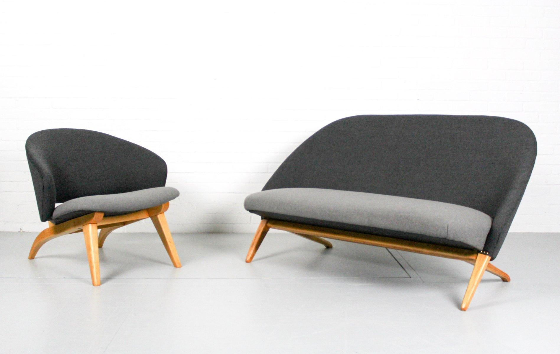 Congo Sofa & Sessel von Theo Ruth für Artifort, 1950er