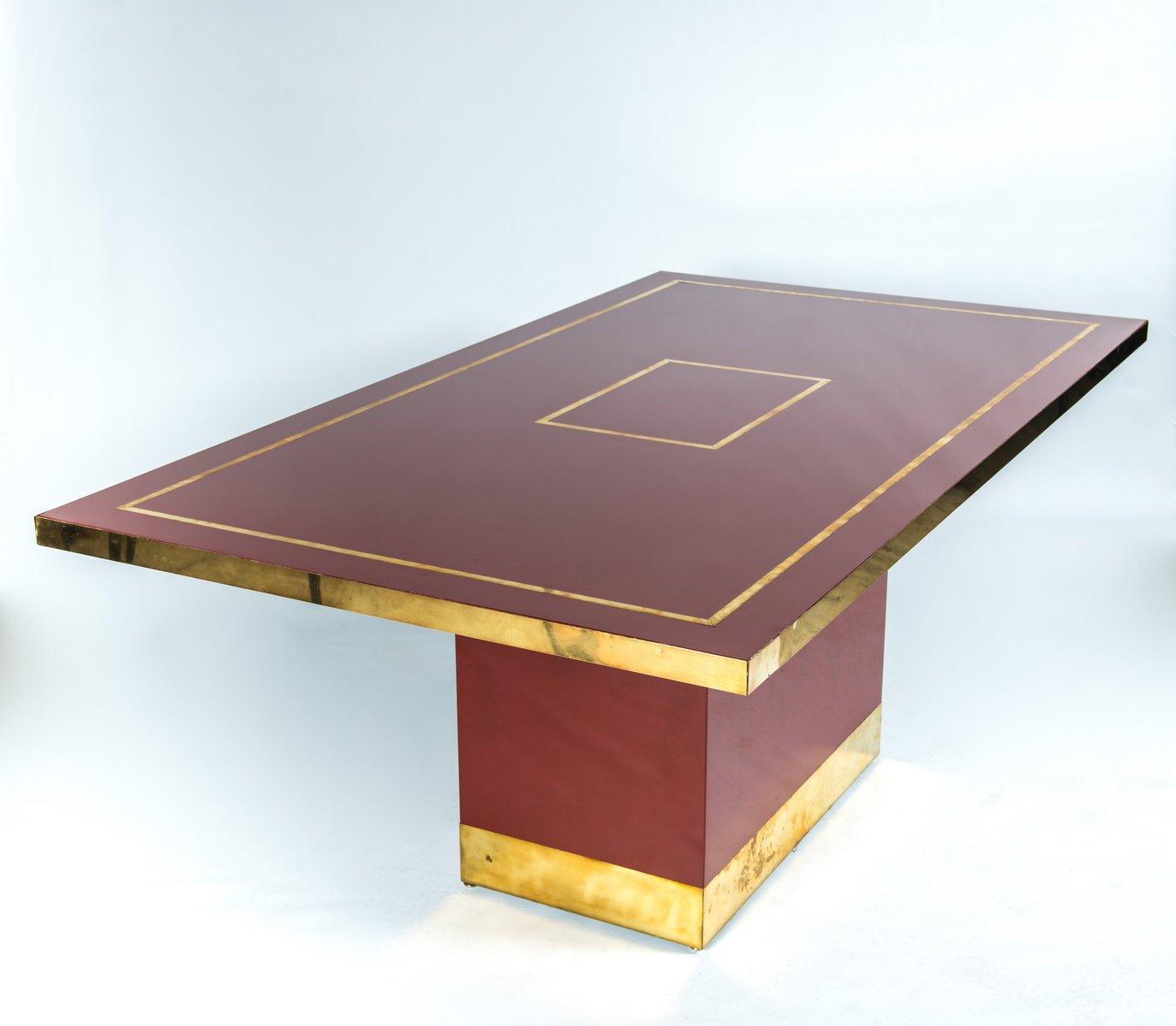 Französischer Esstisch von Jean-Claude Mahey, 1980er