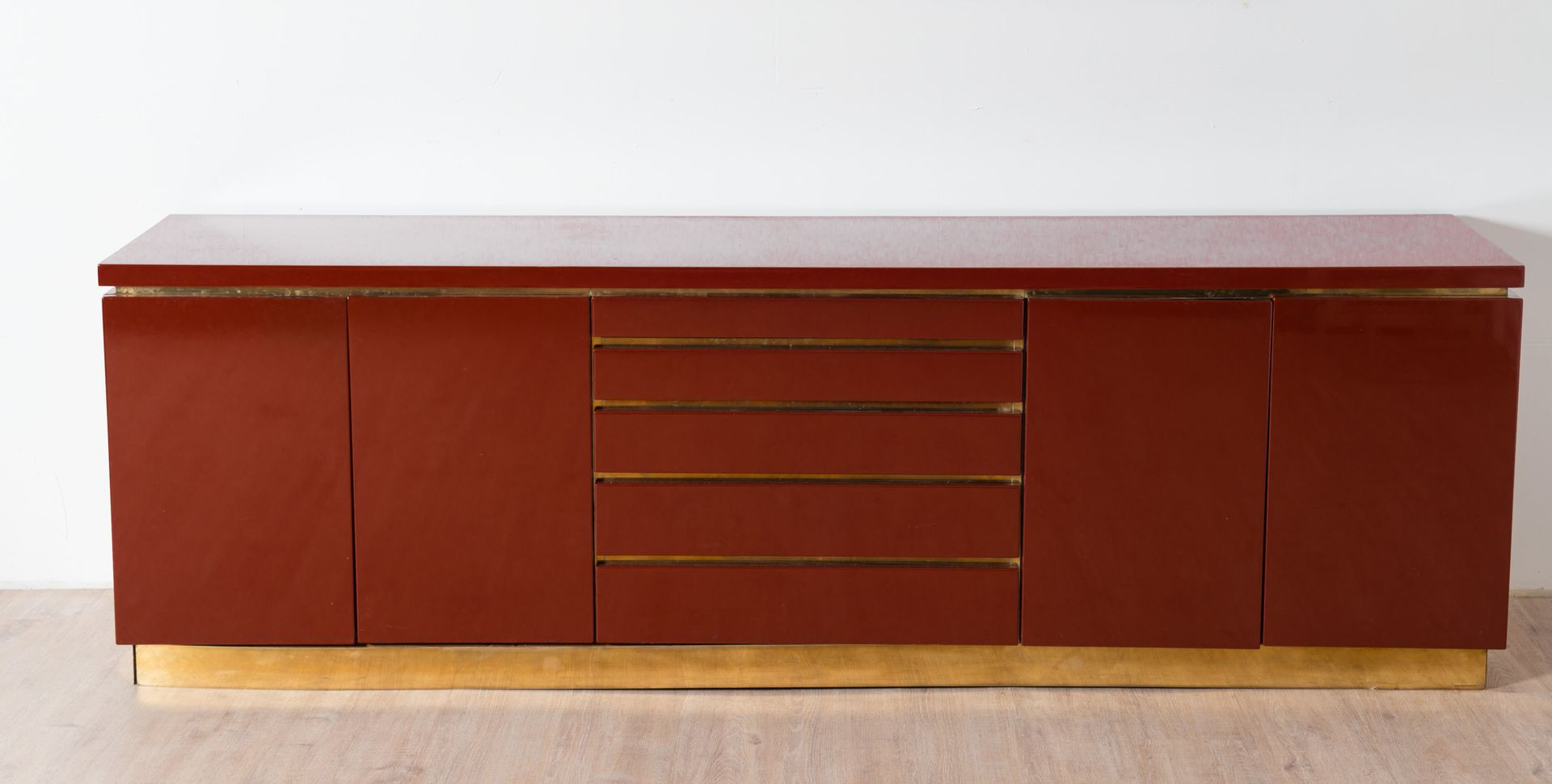 French Sideboard by Jean-Claude Mahey, 1980s