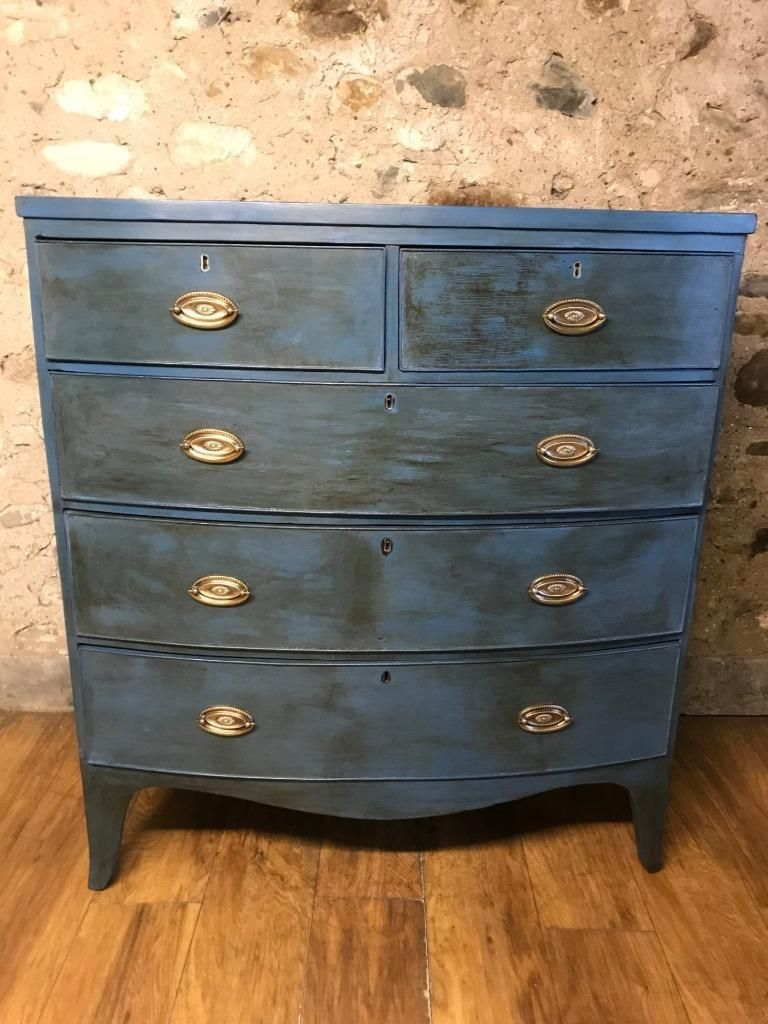 Victorian Bow Fronted Chest of Drawers