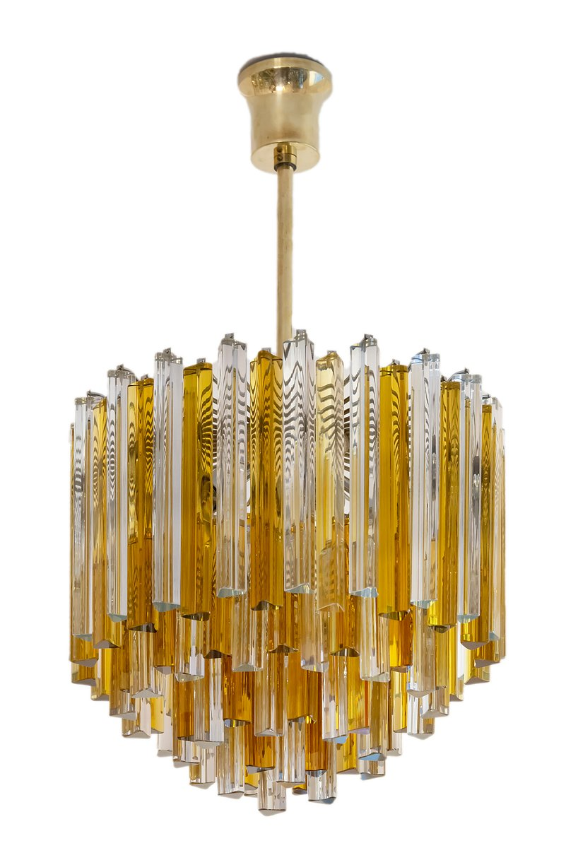 Mid-Century Italian Murano Glass Chandelier from Venini, 1960s