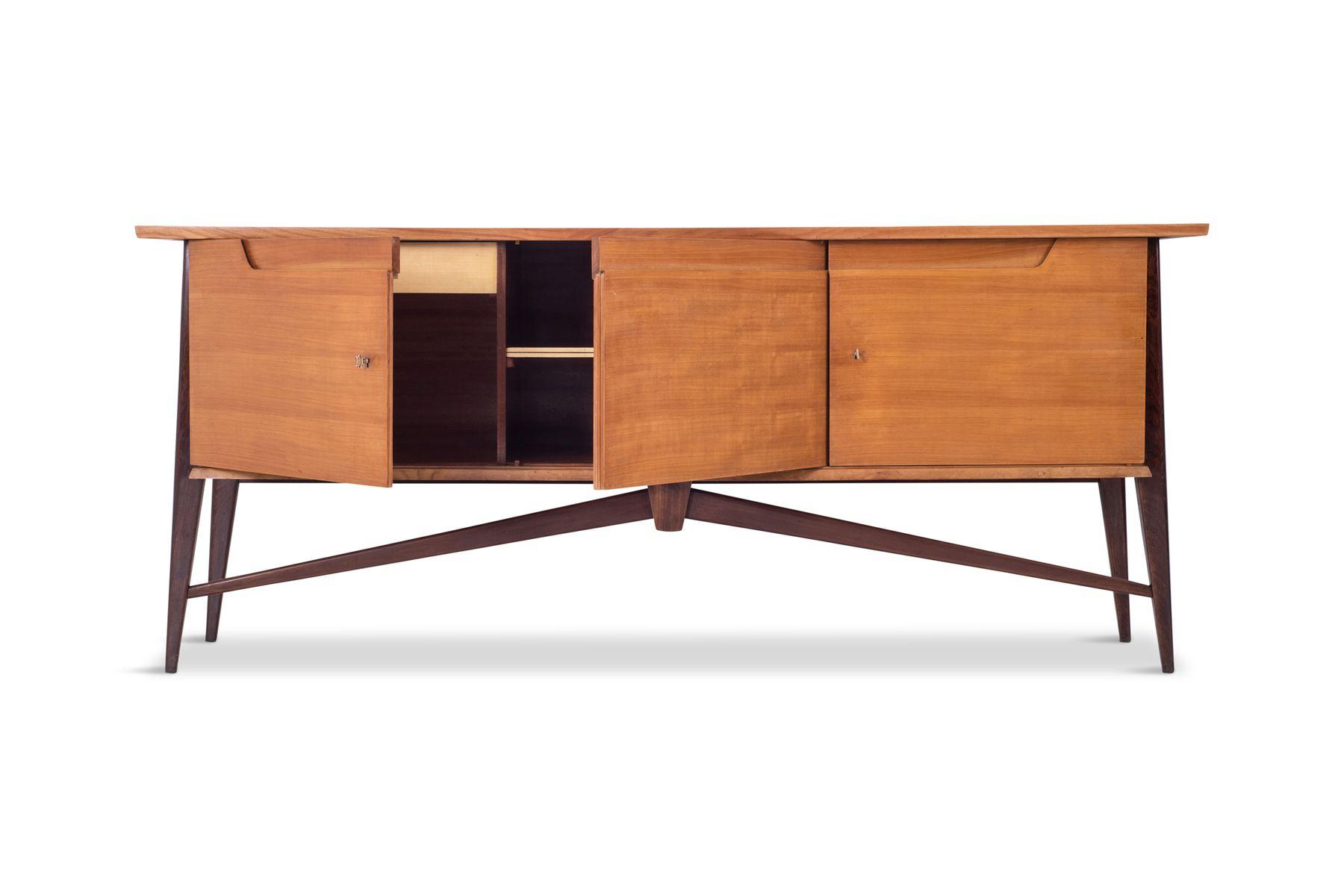 Credenza Moderna Ciliegio : Credenza mid century moderna bicolore di de coene in vendita su pamono