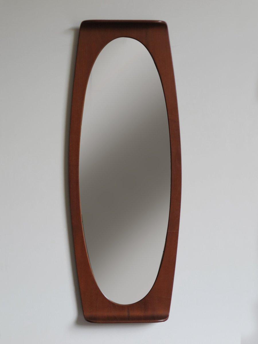 italienischer spiegel mit rahmen aus teak von campo e. Black Bedroom Furniture Sets. Home Design Ideas