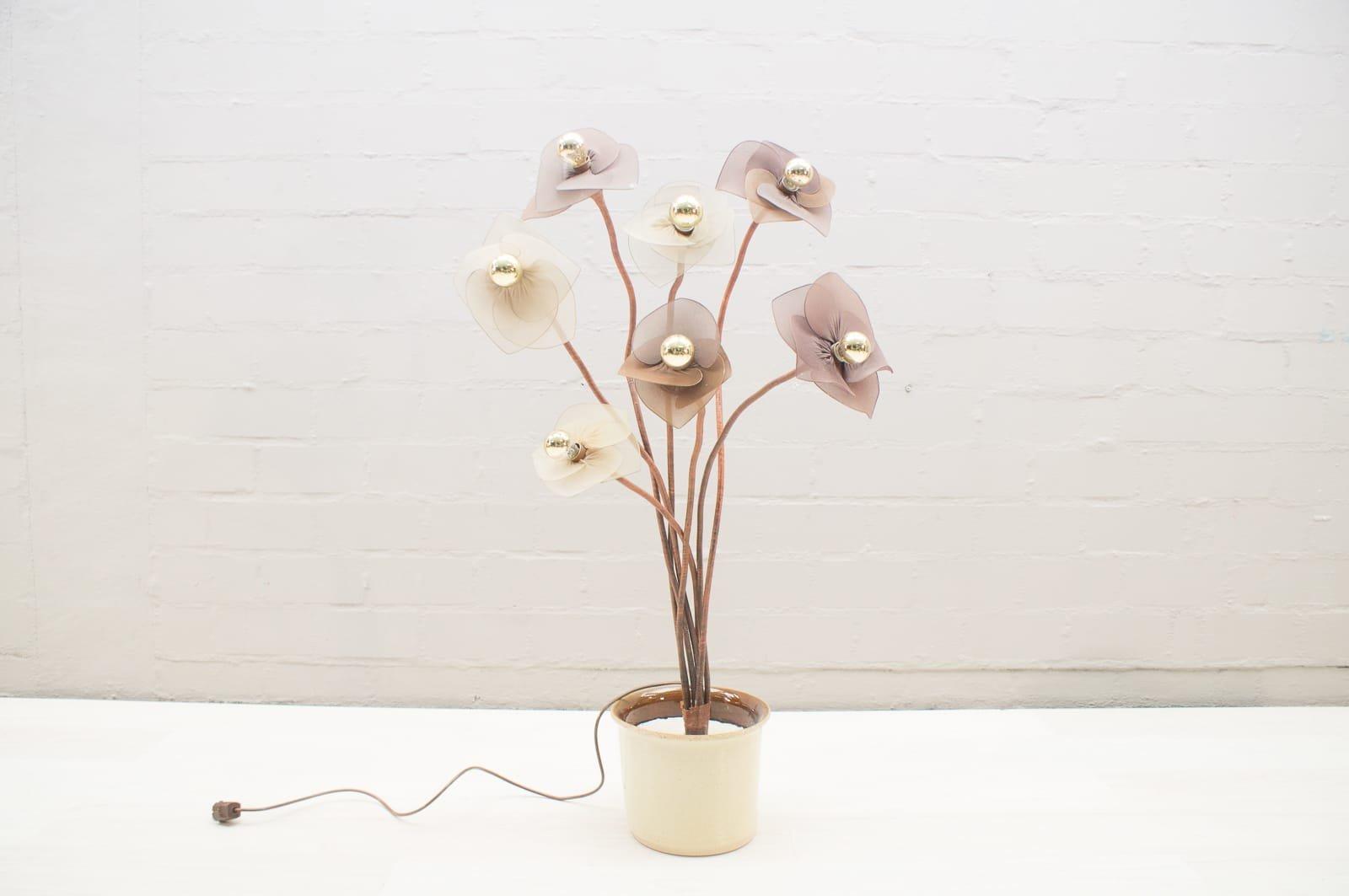 Vintage Regency Stehlampe in Blumen-Optik, 1960er