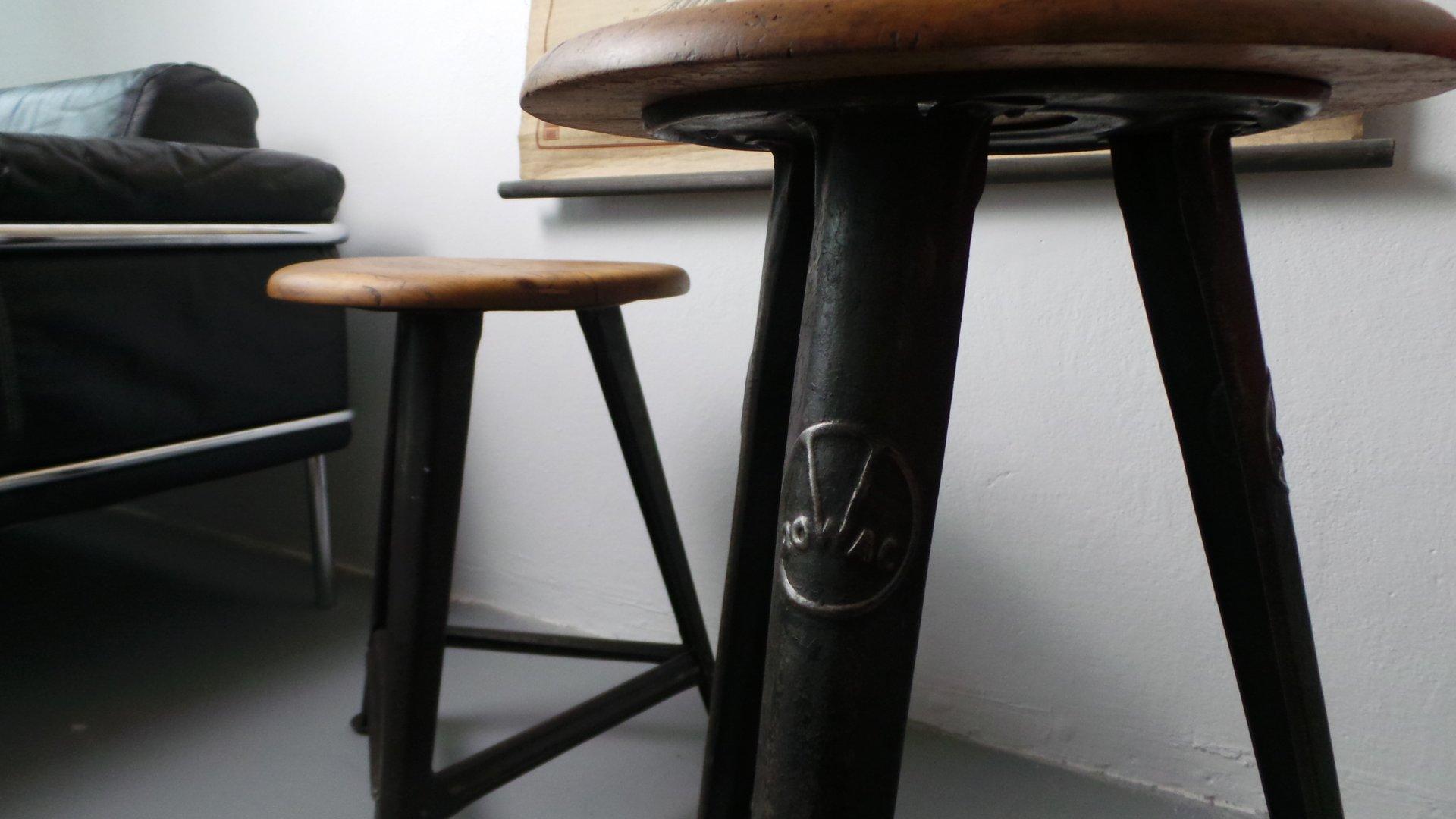 Sgabelli industriali vintage di robert wagner per rowac anni 30