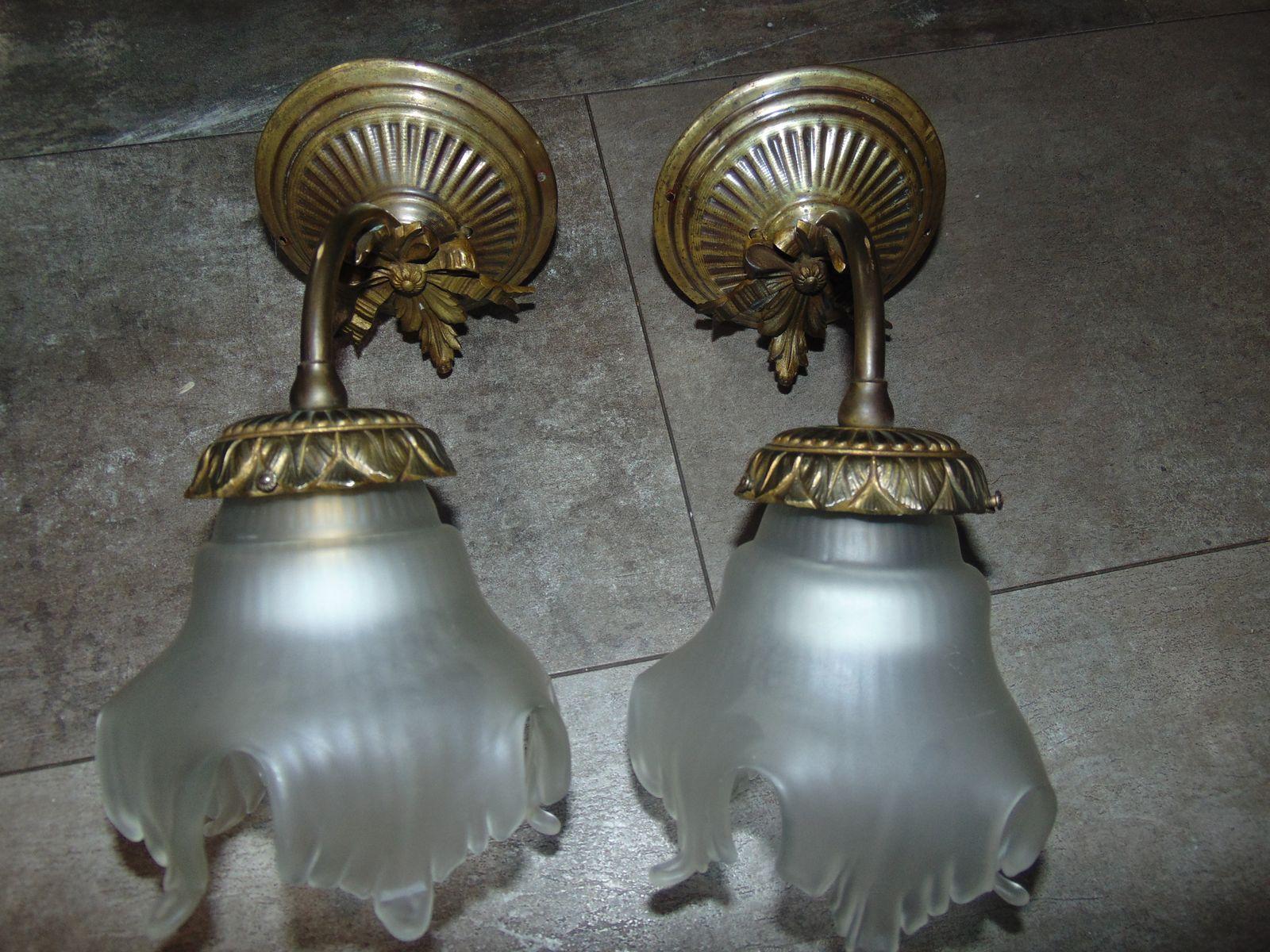 vintage wandlampe aus messing bei pamono kaufen. Black Bedroom Furniture Sets. Home Design Ideas