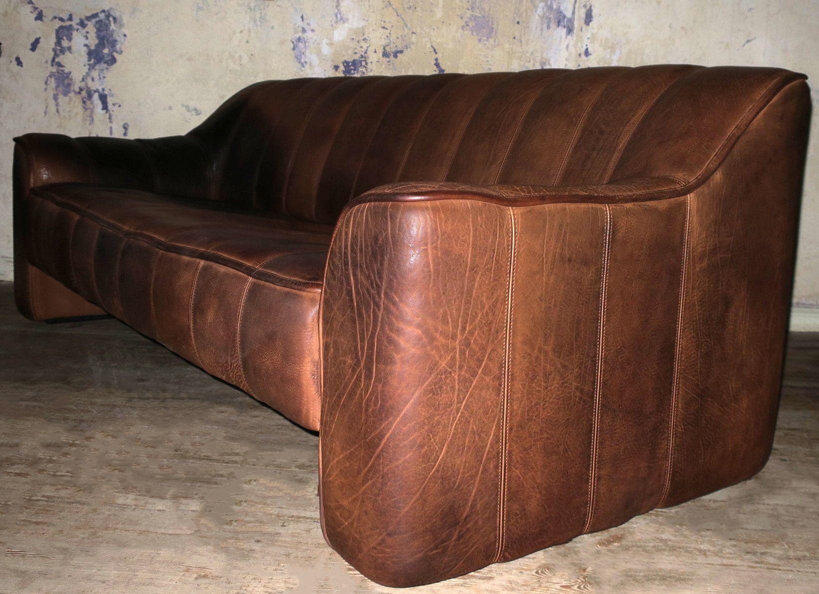 Ds44 3 Sitzer Sofa Aus Büffelleder Von De Sede 1970er Bei Pamono Kaufen