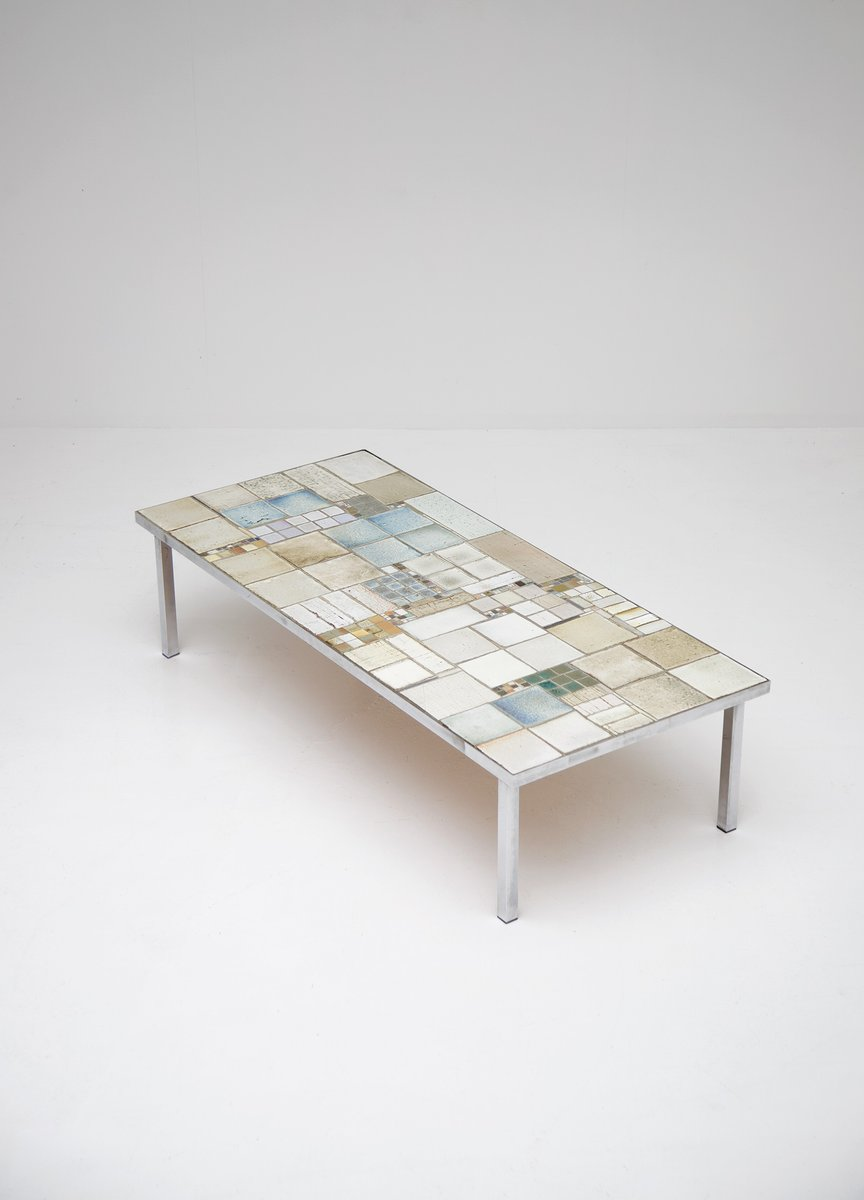 Mid-Century Ceramic Coffee Table by Pia Manu