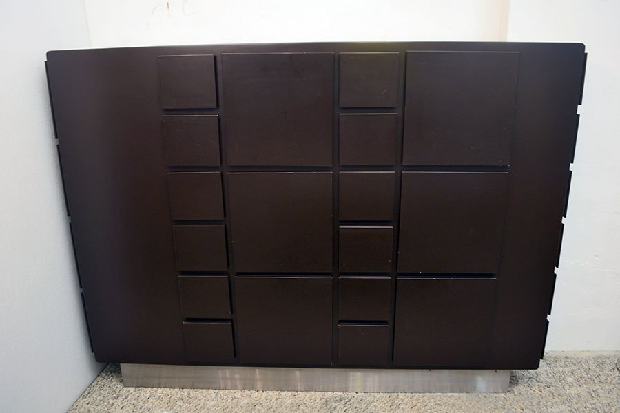 Italian Laquered Wood Cabinet, 1970s