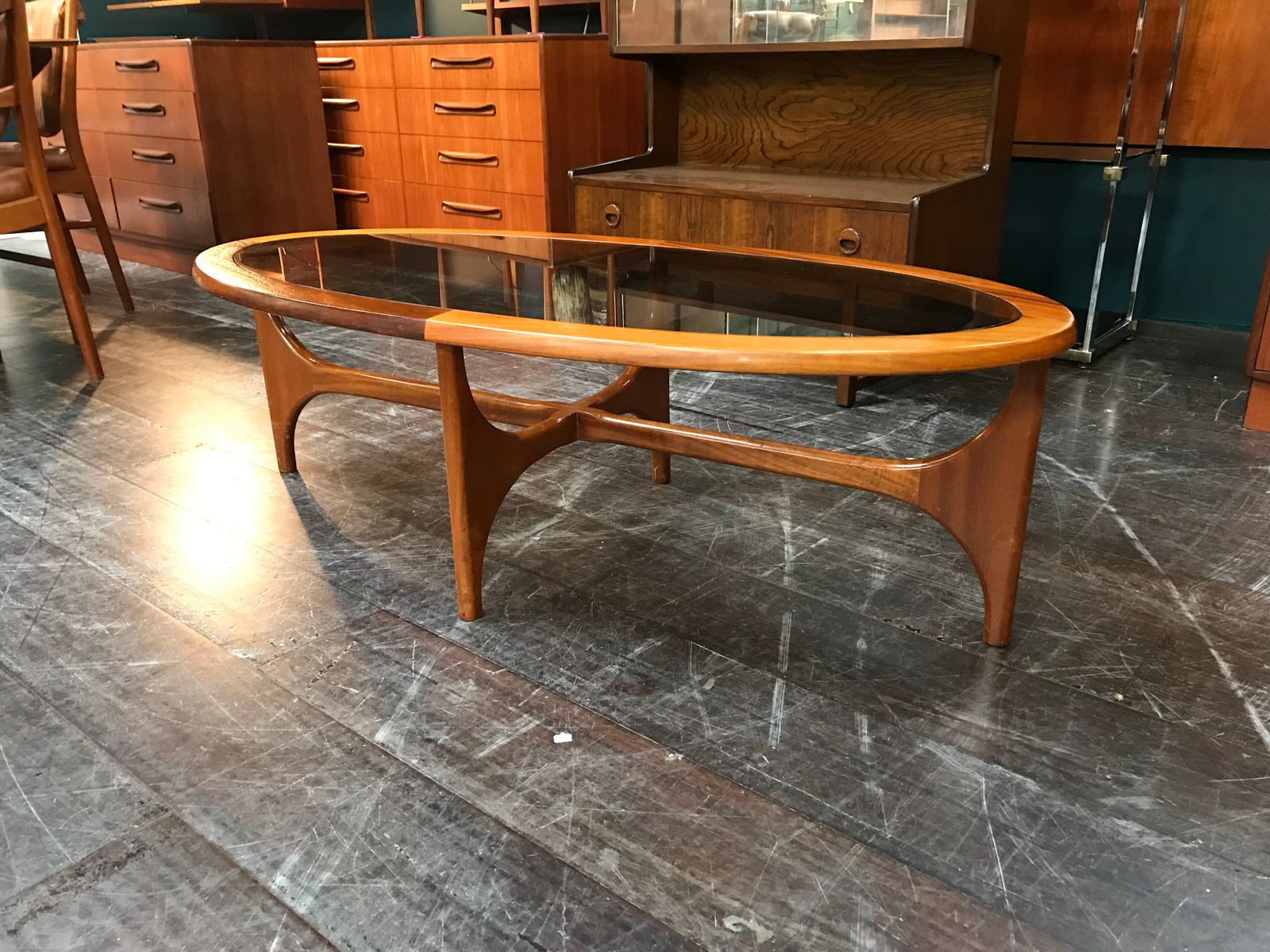 Stateroom Oval Coffee Table from Stonehill, 1960s