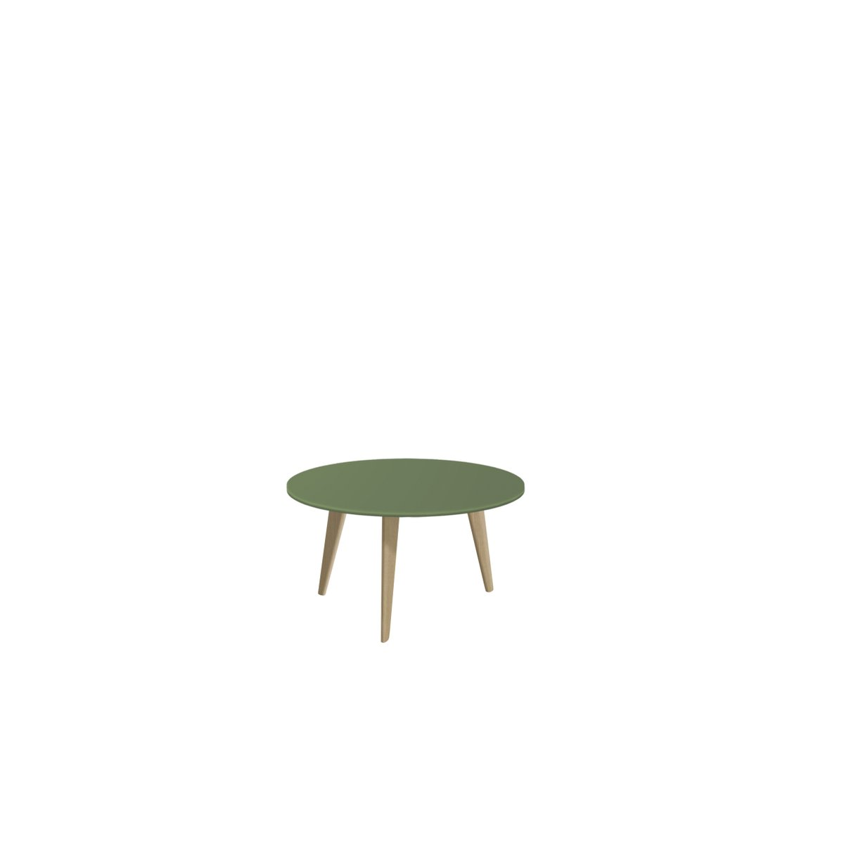 Large BIDULE Coffee Table with Green Lacquered Top & Natural Oak Feet ...