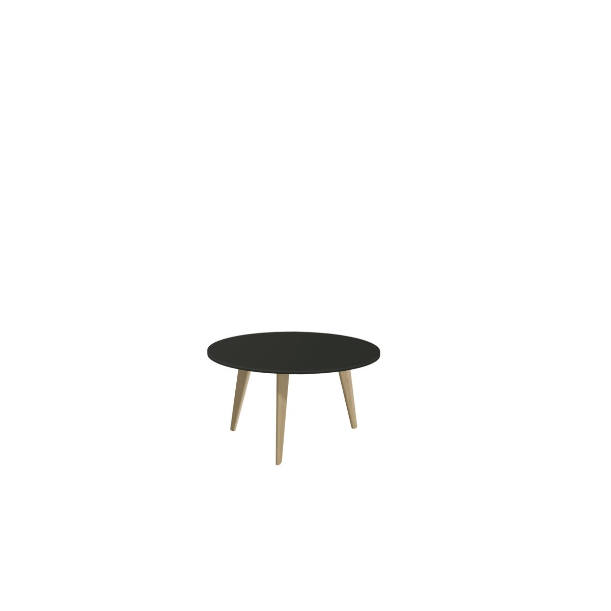 Large BIDULE Coffee Table with Black Lacquered Top & Natural Oak Feet ...