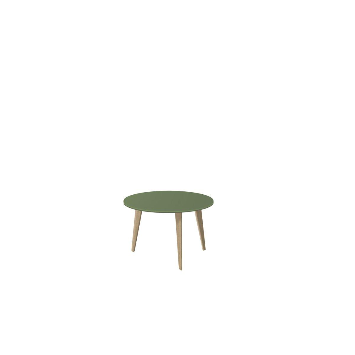 Medium BIDULE Coffee Table with Green Lacquered Top & Natural Oak Feet...
