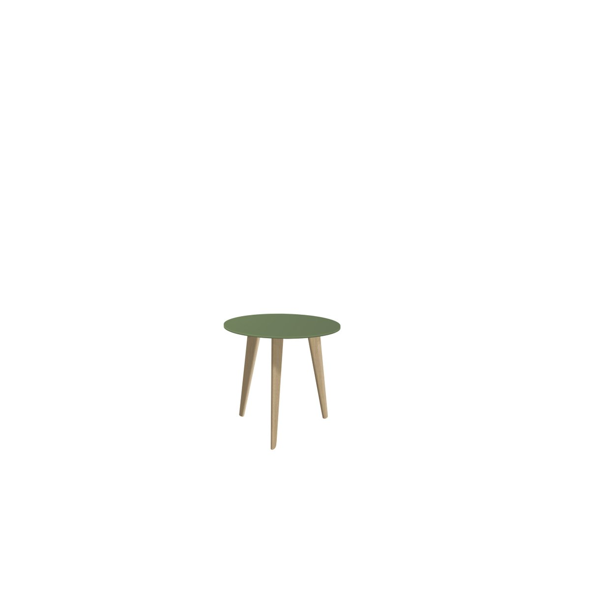 Small BIDULE Coffee Table with Green Lacquered Top & Natural Oak Feet ...