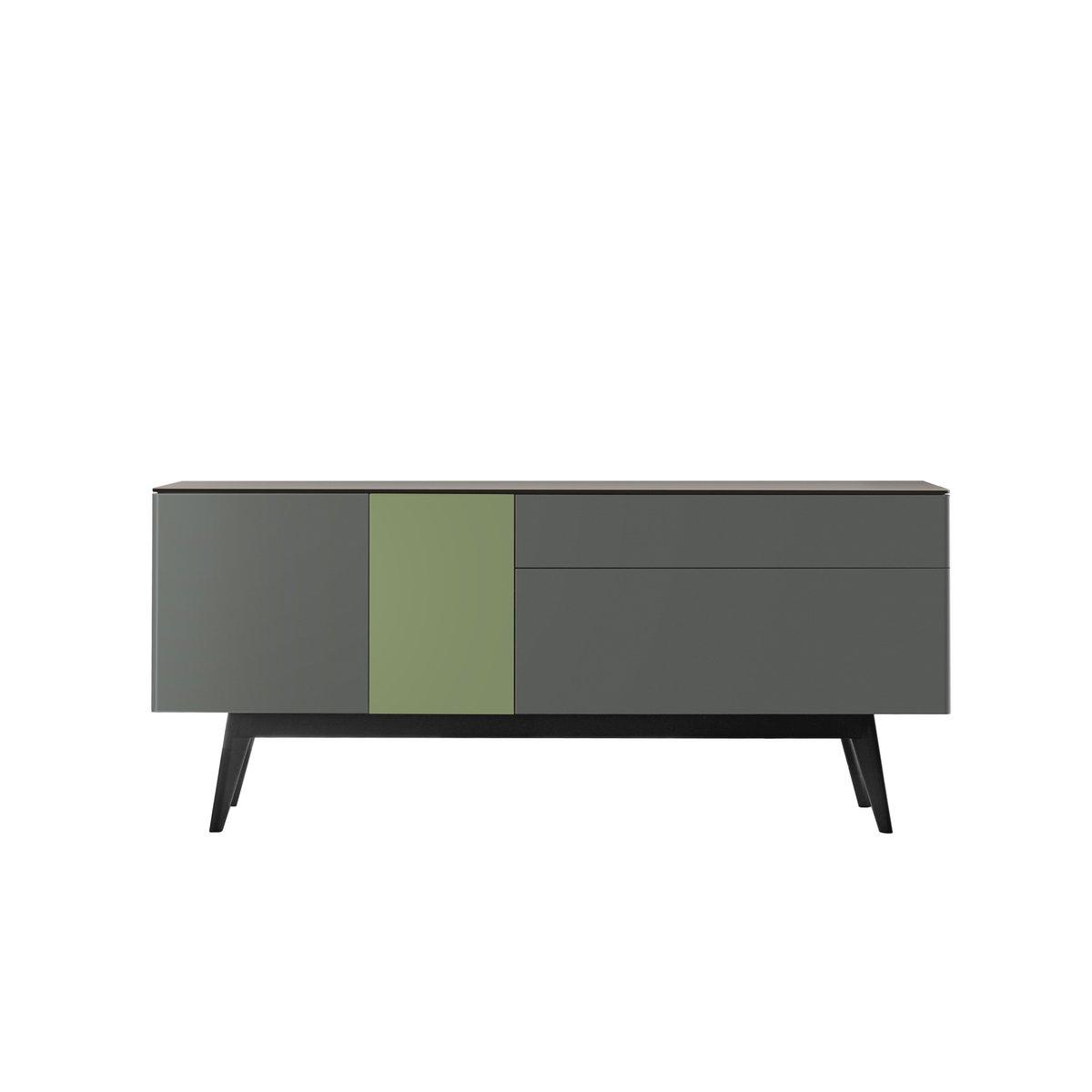 APERITIU Sideboard aus schwarzer, grauer und grüner Eiche von Henri Tu...