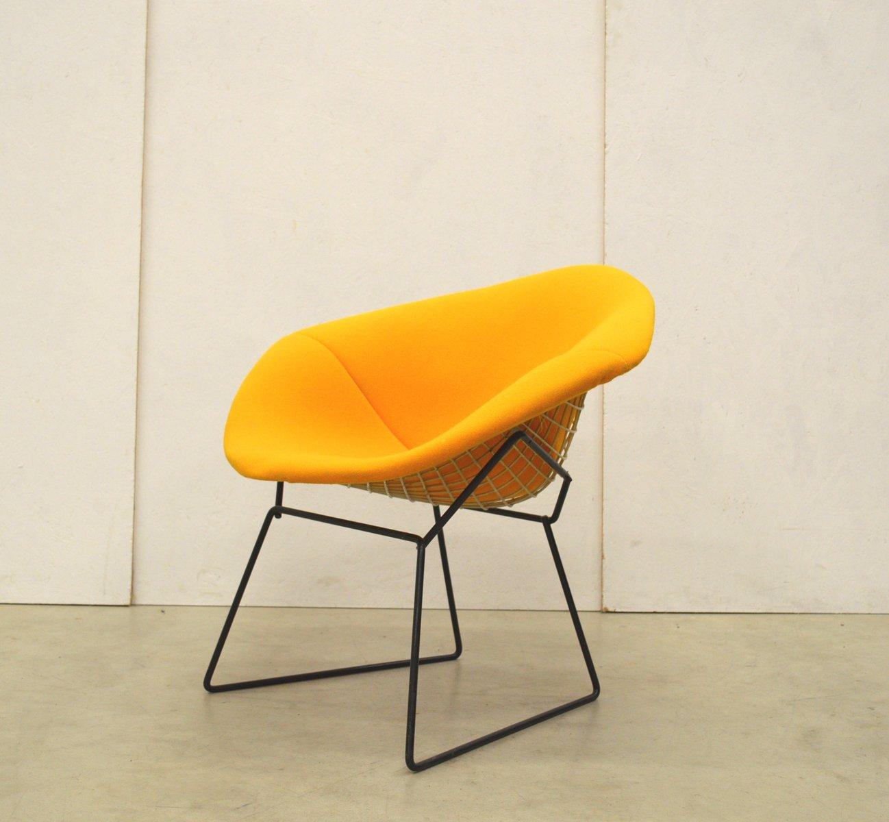 Gelbe Diamond Chairs von Harry Bertoia für Knoll, 1970er, 2er Set