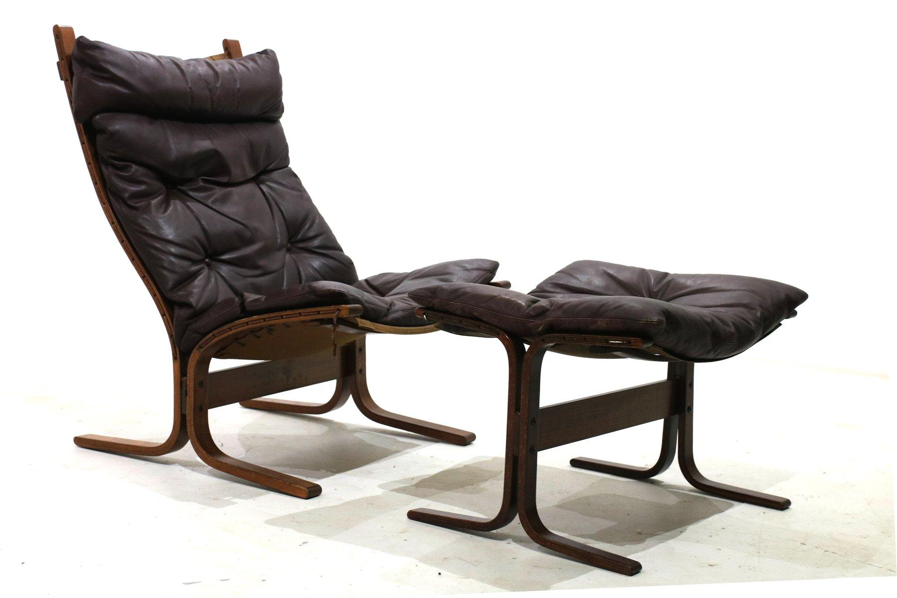 Siesta Sessel mit Fußhocker von Ingmar Relling für Westnofa 1960er bei Pamono kaufen