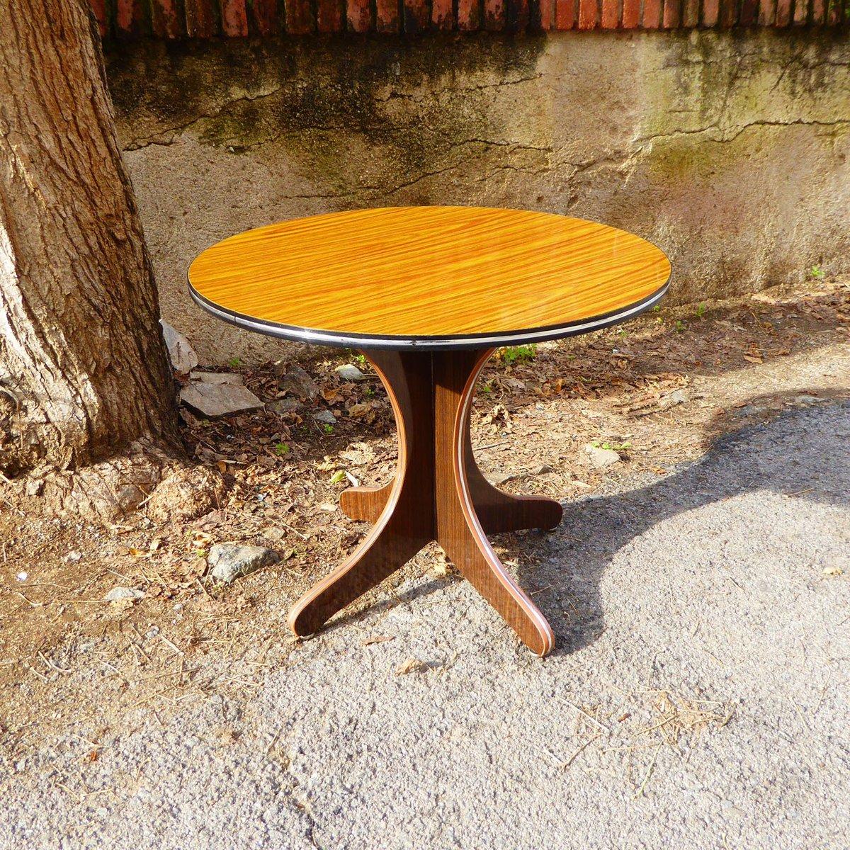 vintage round formica side table 1970s for sale at pamono. Black Bedroom Furniture Sets. Home Design Ideas
