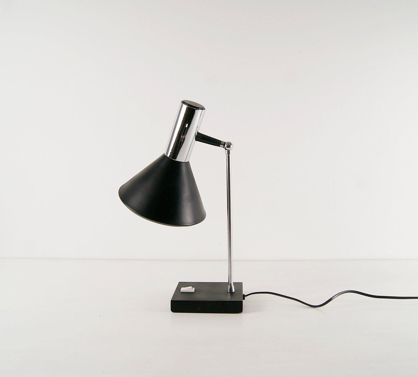 Schwarze Schreibtischlampe aus Metall, 1960er