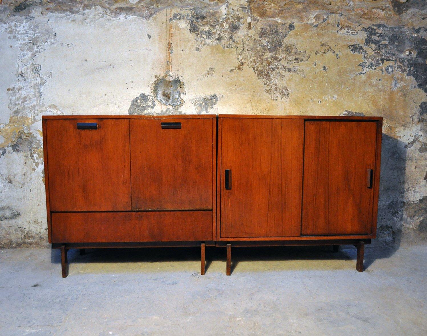 Mobile Bar & Schrank von Leonardo Fiori für ISA Bergamo, 1950er