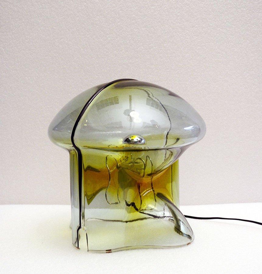 medusa tischlampe aus glas von umberto riva f r veart 1970er bei pamono kaufen. Black Bedroom Furniture Sets. Home Design Ideas