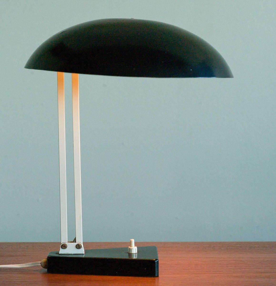 lampe de bureau vintage industrielle par h. th. j. a. busquet pour
