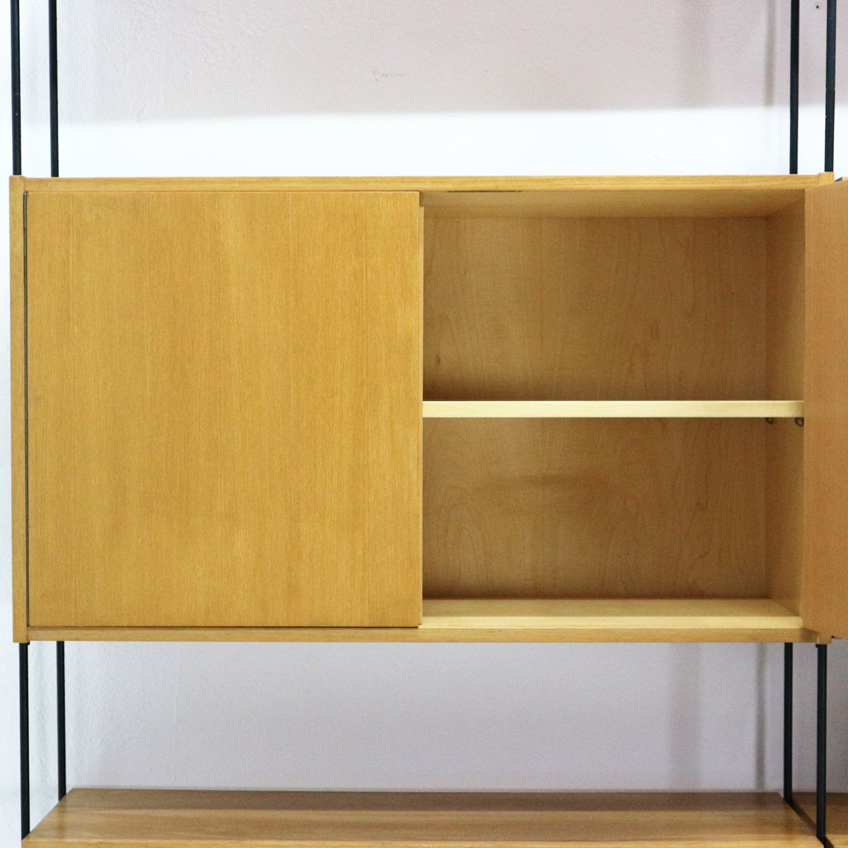 gro es omnia regal mit eschenfurnier von hilker 1960er bei pamono kaufen. Black Bedroom Furniture Sets. Home Design Ideas