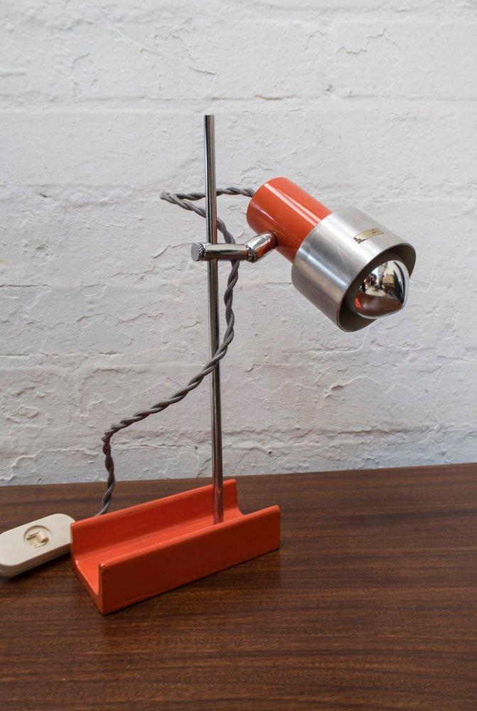 Orangene Vintage Tischlampe von Guzzini, 1960er
