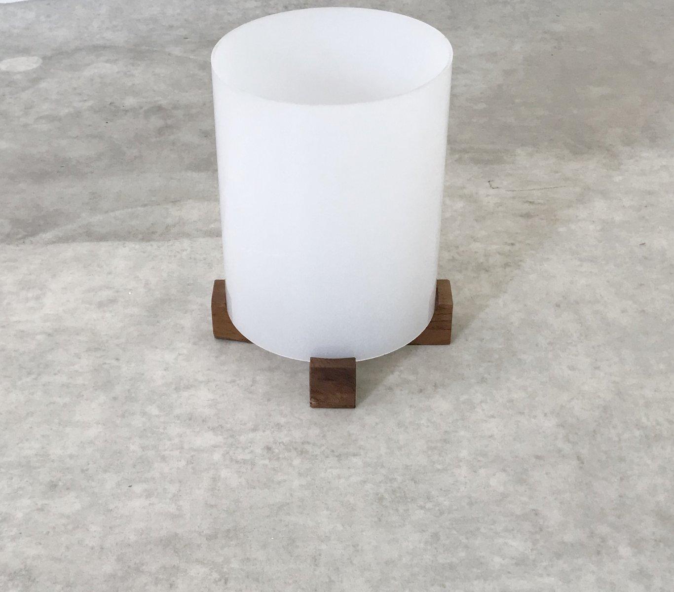 tischlampe aus holz plexiglas 1950er bei pamono kaufen. Black Bedroom Furniture Sets. Home Design Ideas