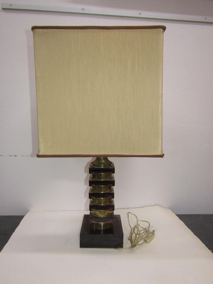 Tischlampe aus Metall, Plexiglas & Chrom, 1970er