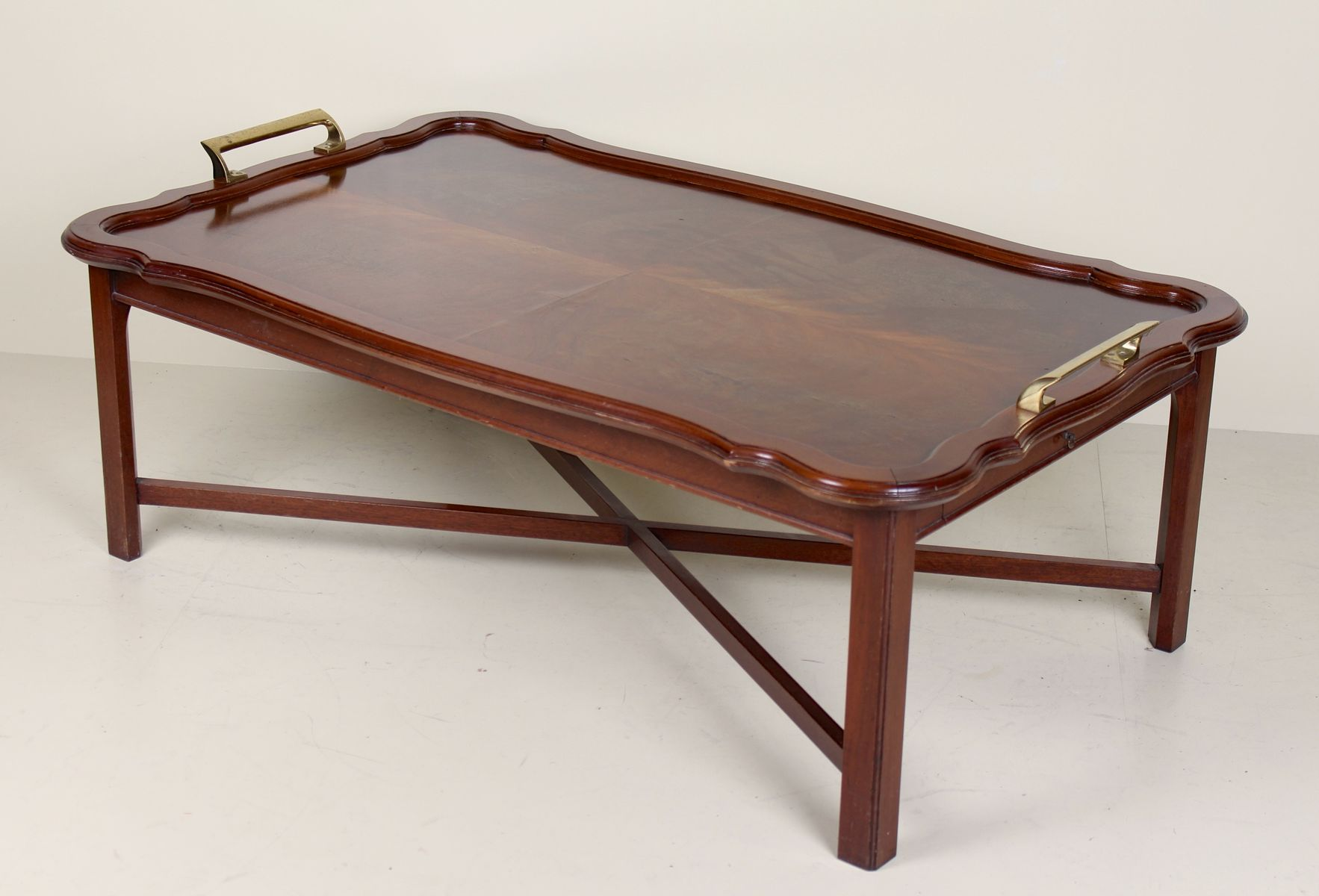 Large vintage extending mahogany coffee table 1960s
