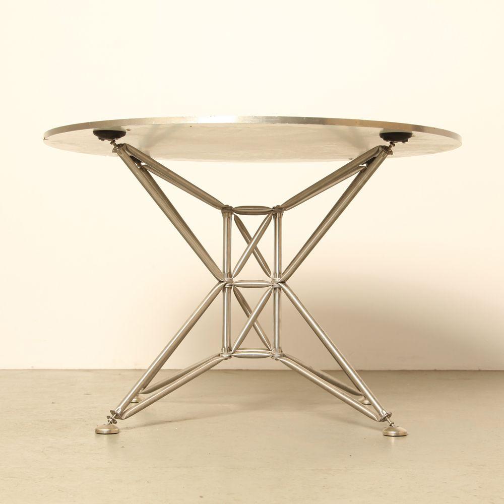 runder vintage lunar s tisch von j rg steiner dirk uptmoor f r system 180 bei pamono kaufen. Black Bedroom Furniture Sets. Home Design Ideas