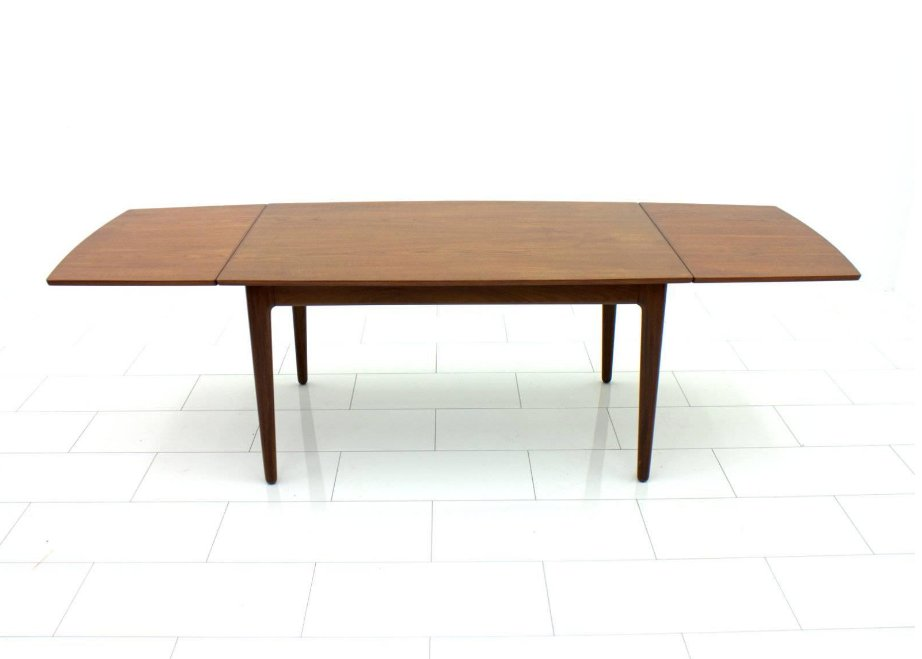 Vintage Danish Teak Drop Leaf Table 1960s