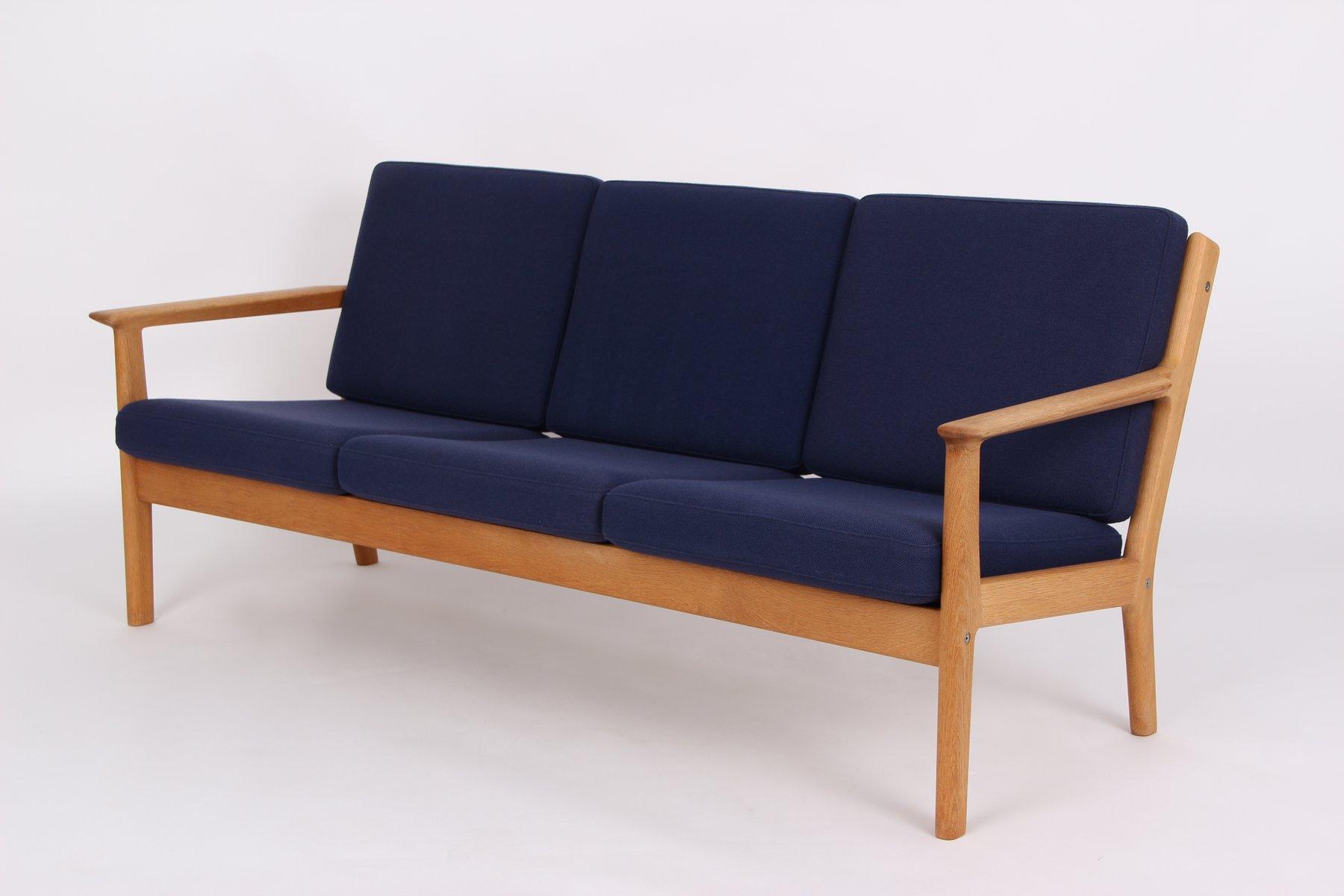 Vintage 3-Sitzer Sofa und Sessel von Hans J. Wegner für Getama