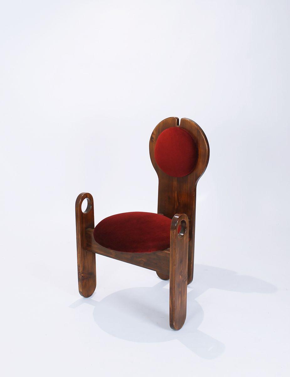 Handgefertigter Sessel von Szedleczky Leszl Mária, 1970er