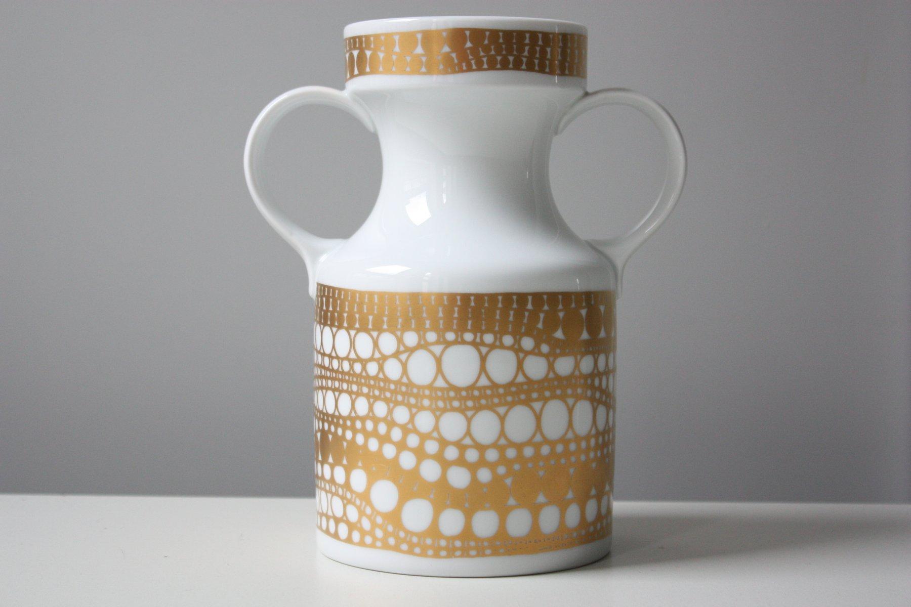 deutsche vintage vase in wei gold von heinrich porzellan bei pamono kaufen. Black Bedroom Furniture Sets. Home Design Ideas