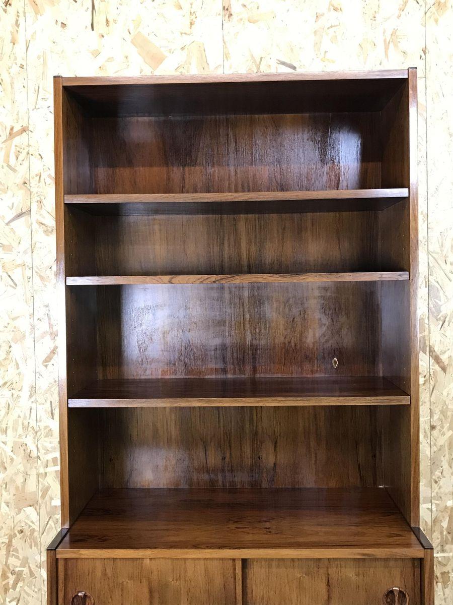 Vintage Danish Teak Rosewood Bookshelf