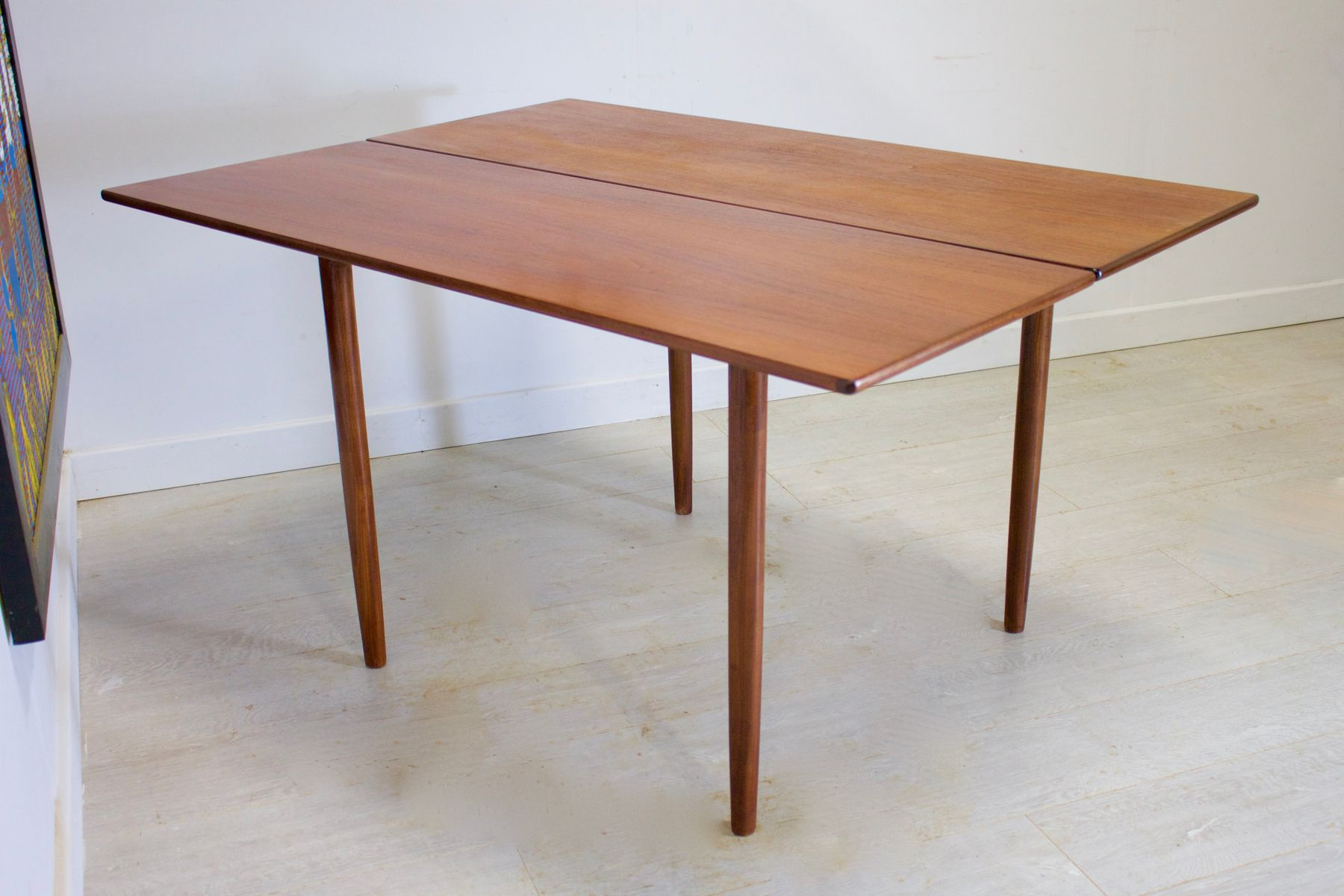 Mid century teak drop leaf dining table by kofod larsen for g plan 1960s