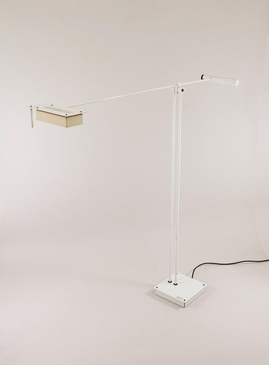 White Samurai Stehlampe von Sigheaki Asahara für Stilnovo, 1970er