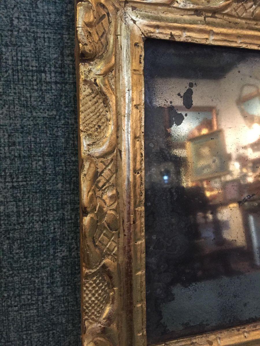 antiker spiegel mit rahmen aus vergoldetem holz bei pamono kaufen. Black Bedroom Furniture Sets. Home Design Ideas