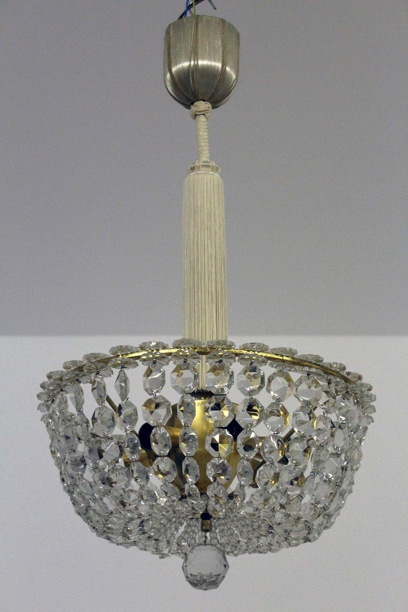 Österreichischer Vintage Kronleuchter aus Bleikristallglas