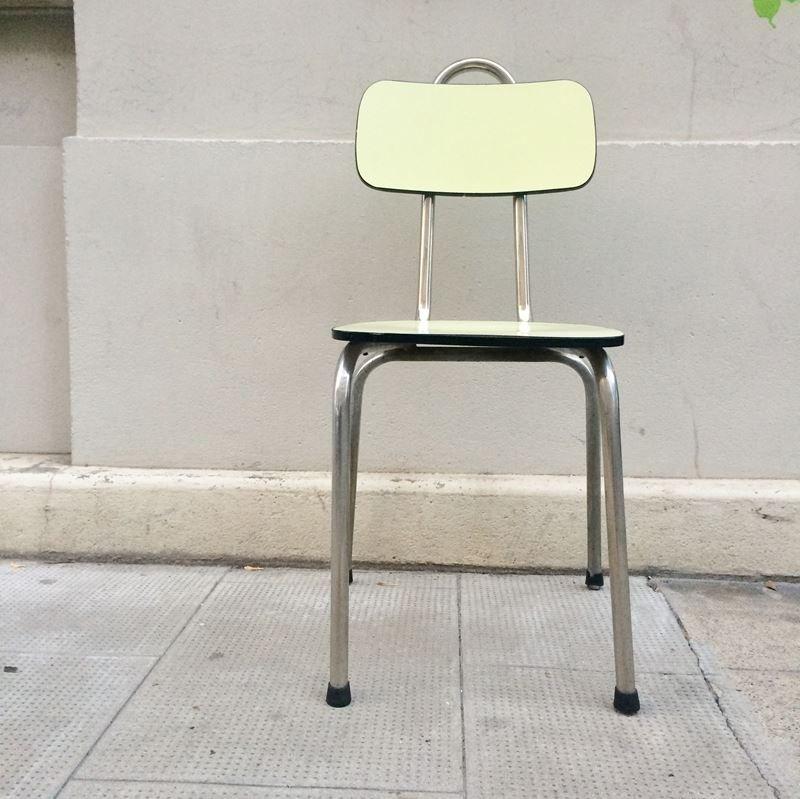 chaise vintage en formica jaune en vente sur pamono. Black Bedroom Furniture Sets. Home Design Ideas
