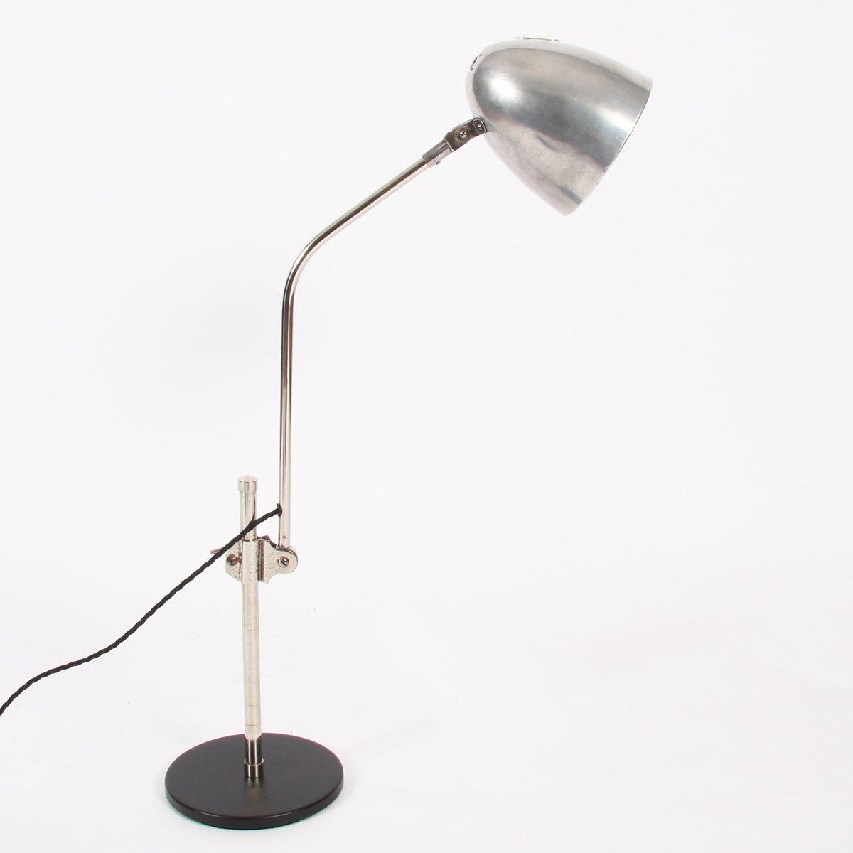 Niederländische Vintage Aluminium Schreibtischlampe, 1960er
