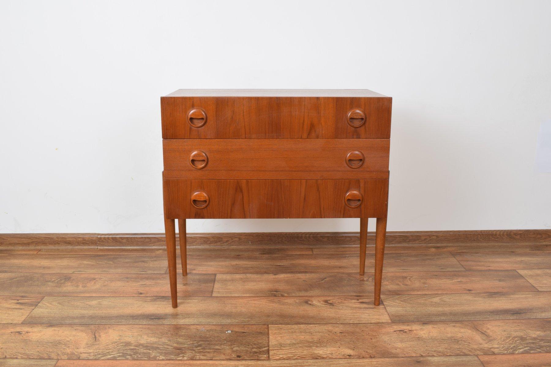 mid century kommode aus teak von hans hawig m bler 1960er. Black Bedroom Furniture Sets. Home Design Ideas