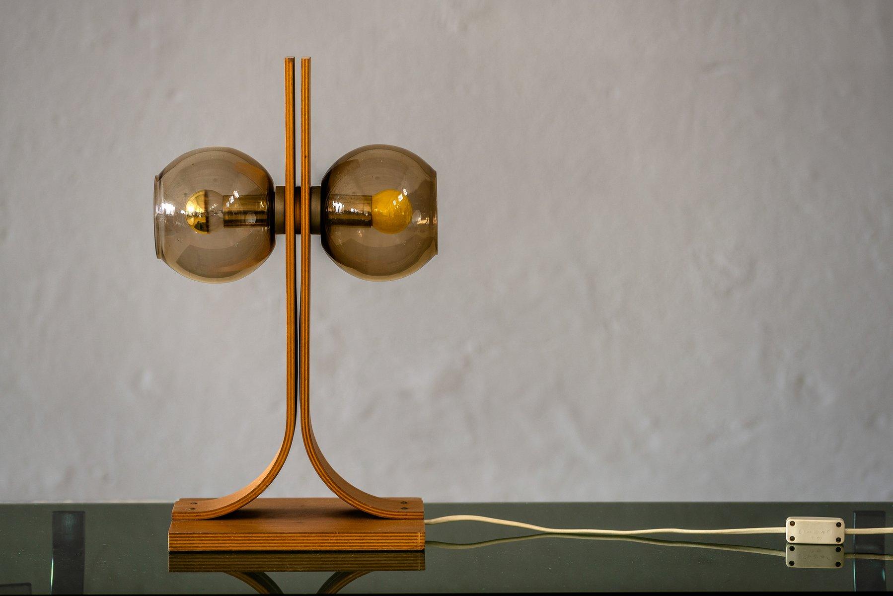 Minimalistische Tischlampe von Temde, 1960er