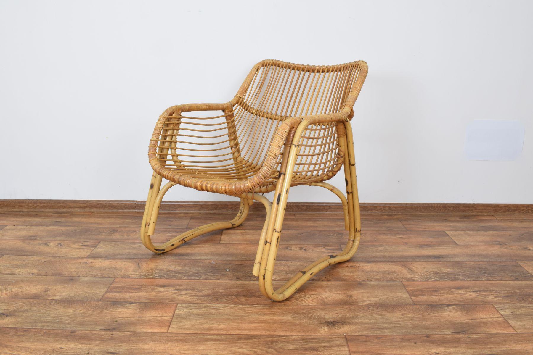 Vintage Lehnstuhl aus Rattan, 1970er