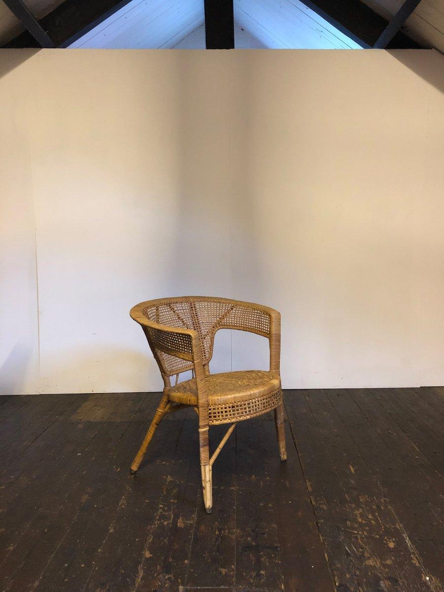 Runder mid century stuhl aus korbgeflecht bei pamono kaufen - Mid century stuhl ...