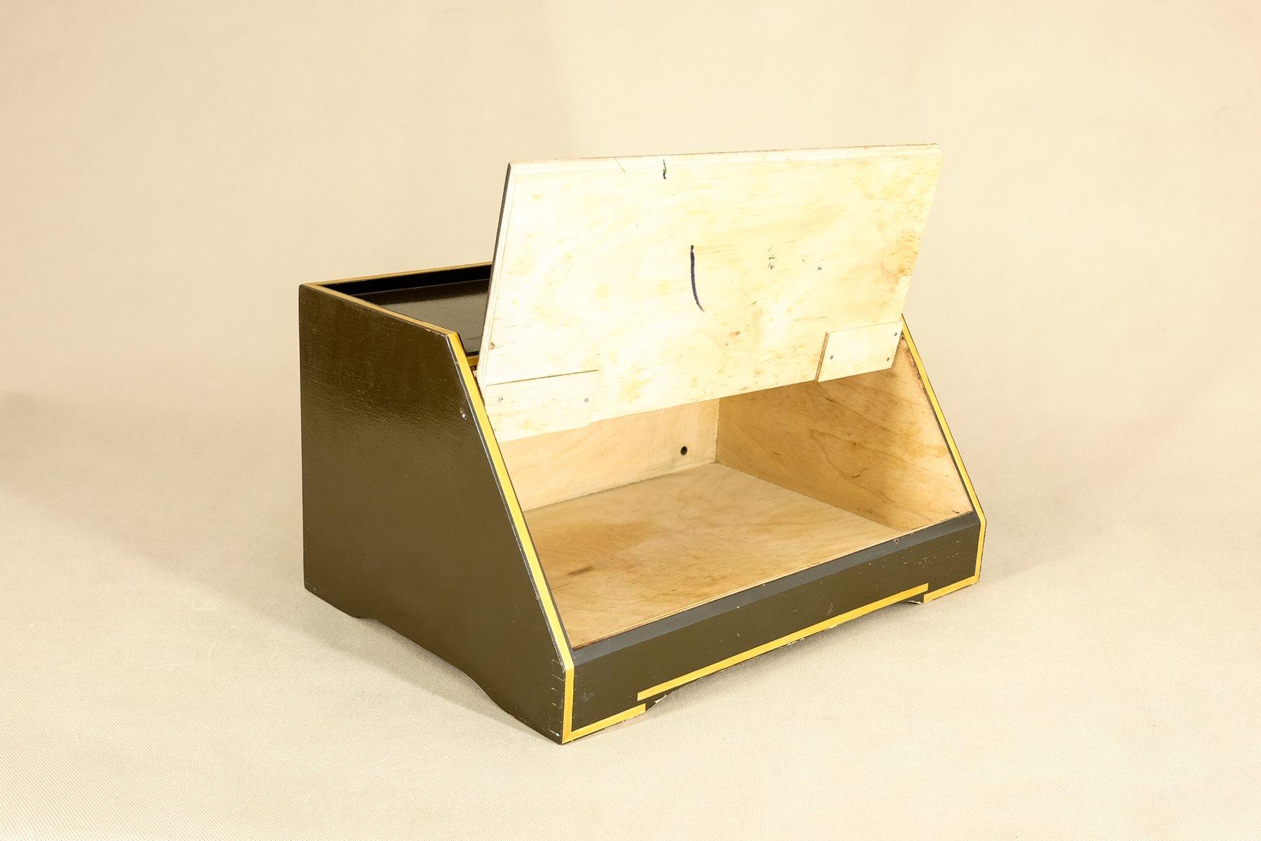 mid century brotkasten aus holz 1960er bei pamono kaufen. Black Bedroom Furniture Sets. Home Design Ideas