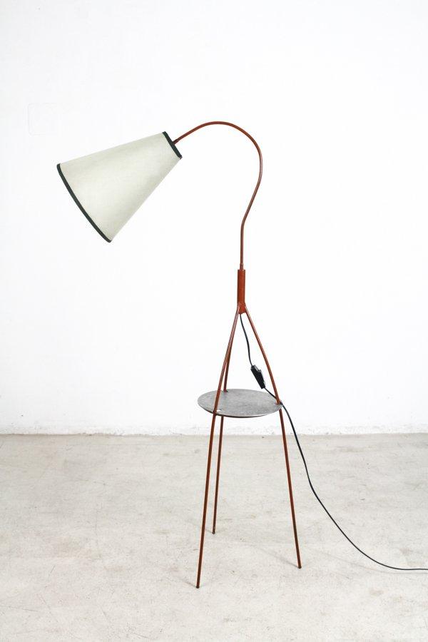 Slim Stehlampe aus Dreibein, 1950er